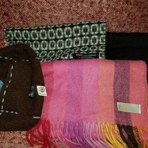 Accessories - SALE Cashmere Scarves/Hat Bundle